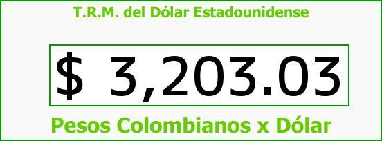 T.R.M. del Dólar para hoy Viernes 4 de Marzo de 2016