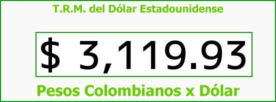 T.R.M. del Dólar para hoy Viernes 4 de Septiembre de 2015