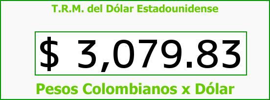 T.R.M. del Dólar para hoy Viernes 5 de Agosto de 2016
