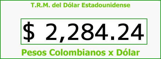 T.R.M. del Dólar para hoy Viernes 5 de Diciembre de 2014