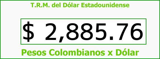 T.R.M. del Dólar para hoy Viernes 5 de Enero de 2018