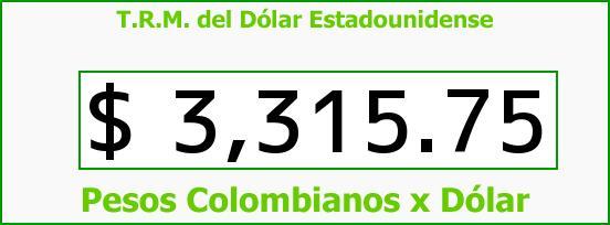 T.R.M. del Dólar para hoy Viernes 5 de Febrero de 2016