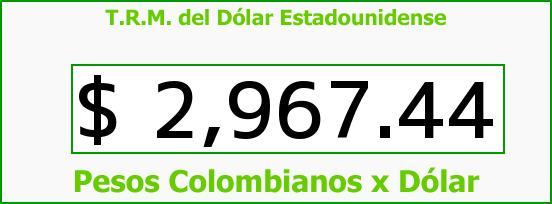 T.R.M. del Dólar para hoy Viernes 5 de Mayo de 2017