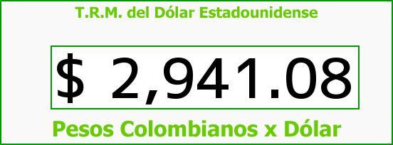 T.R.M. del Dólar para hoy Viernes 6 de Enero de 2017