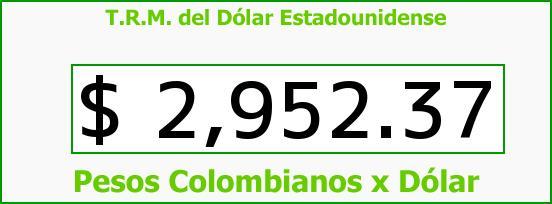T.R.M. del Dólar para hoy Viernes 6 de Mayo de 2016