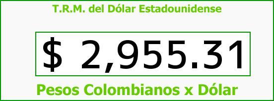 T.R.M. del Dólar para hoy Viernes 7 de Agosto de 2015