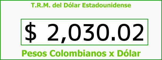 T.R.M. del Dólar para hoy Viernes 7 de Marzo de 2014