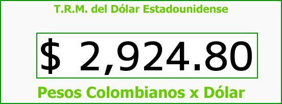 T.R.M. del Dólar para hoy Viernes 7 de Octubre de 2016