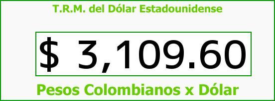 T.R.M. del Dólar para hoy Viernes 8 de Abril de 2016