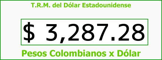 T.R.M. del Dólar para hoy Viernes 8 de Enero de 2016