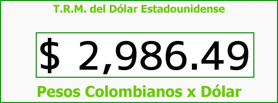 T.R.M. del Dólar para hoy Viernes 8 de Julio de 2016