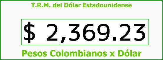 T.R.M. del Dólar para hoy Viernes 8 de Mayo de 2015