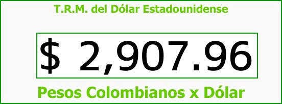 T.R.M. del Dólar para hoy Viernes 8 de Septiembre de 2017