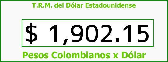 T.R.M. del Dólar para hoy Viernes 9 de Mayo de 2014