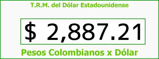 T.R.M. del Dólar para hoy Viernes 9 de Octubre de 2015