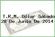 T.R.M. Dólar Sábado 28 De Junio De 2014