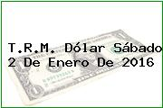 T.R.M. Dólar Sábado 2 De Enero De 2016