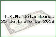 T.R.M. Dólar Lunes 25 De Enero De 2016