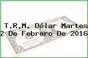 T.R.M. Dólar Martes 2 De Febrero De 2016