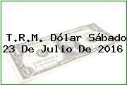 T.R.M. Dólar Sábado 23 De Julio De 2016