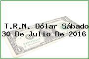 T.R.M. Dólar Sábado 30 De Julio De 2016