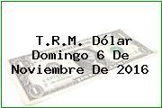 T.R.M. Dólar Domingo 6 De Noviembre De 2016