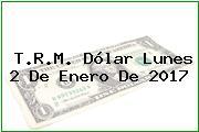 T.R.M. Dólar Lunes 2 De Enero De 2017