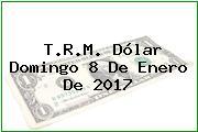T.R.M. Dólar Domingo 8 De Enero De 2017