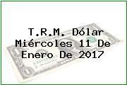 T.R.M. Dólar Miércoles 11 De Enero De 2017