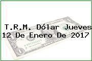 T.R.M. Dólar Jueves 12 De Enero De 2017