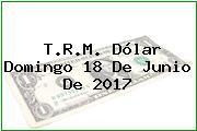 T.R.M. Dólar Domingo 18 De Junio De 2017