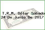 T.R.M. Dólar Sábado 24 De Junio De 2017