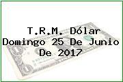 T.R.M. Dólar Domingo 25 De Junio De 2017