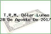 T.R.M. Dólar Lunes 28 De Agosto De 2017