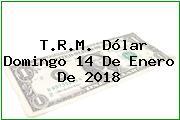 T.R.M. Dólar Domingo 14 De Enero De 2018