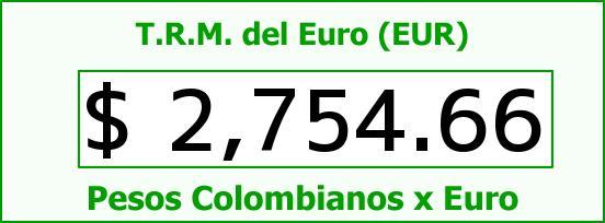 T.R.M. del Euro para hoy Domingo 1 de Febrero de 2015