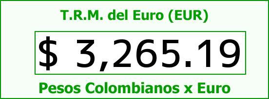 T.R.M. del Euro para hoy Domingo 1 de Mayo de 2016