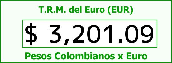 T.R.M. del Euro para hoy Domingo 1 de Noviembre de 2015