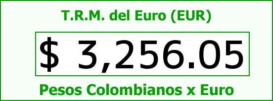 T.R.M. del Euro para hoy Domingo 11 de Octubre de 2015