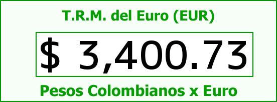 T.R.M. del Euro para hoy Domingo 13 de Septiembre de 2015