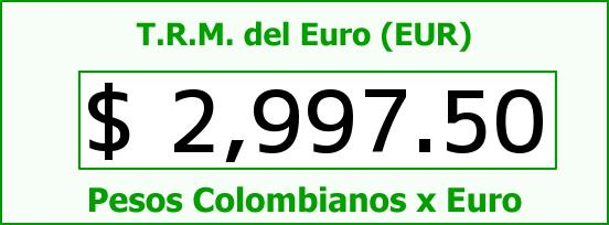 T.R.M. del Euro para hoy Domingo 14 de Diciembre de 2014