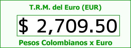 T.R.M. del Euro para hoy Domingo 15 de Febrero de 2015