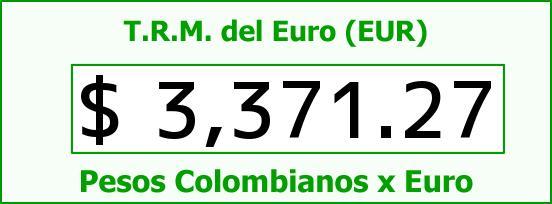 T.R.M. del Euro para hoy Domingo 15 de Mayo de 2016