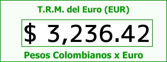 T.R.M. del Euro para hoy Domingo 15 de Noviembre de 2015