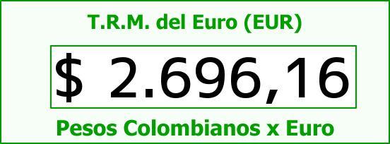 T.R.M. del Euro para hoy Domingo 16 de Noviembre de 2014