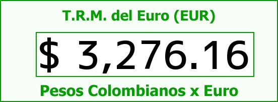 T.R.M. del Euro para hoy Domingo 18 de Octubre de 2015