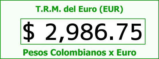 T.R.M. del Euro para hoy Domingo 19 de Julio de 2015