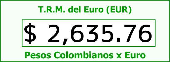 T.R.M. del Euro para hoy Domingo 19 de Octubre de 2014
