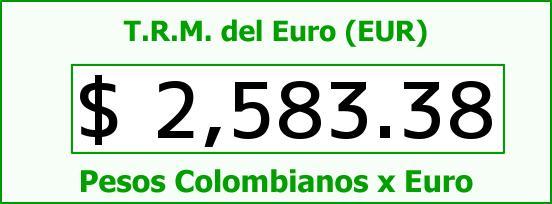 T.R.M. del Euro para hoy Domingo 2 de Noviembre de 2014