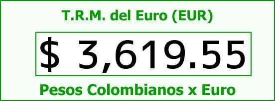T.R.M. del Euro para hoy Domingo 20 de Diciembre de 2015